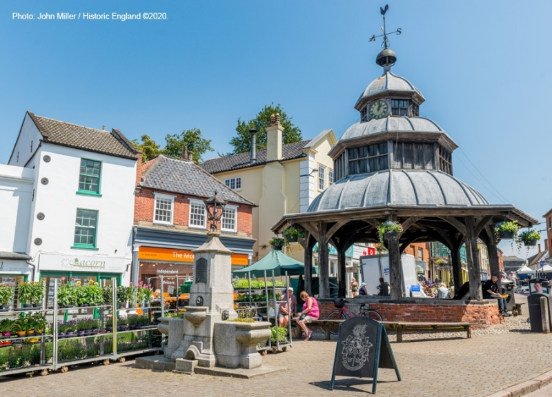 North Walsham Market Place and Market Cross 2020